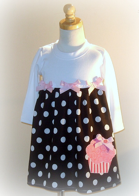 Black and White Cupcake Dress