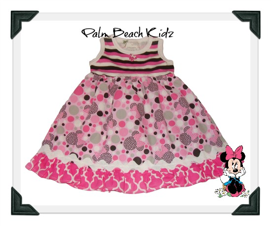 Minnie Mouse Pink Black and White Dress