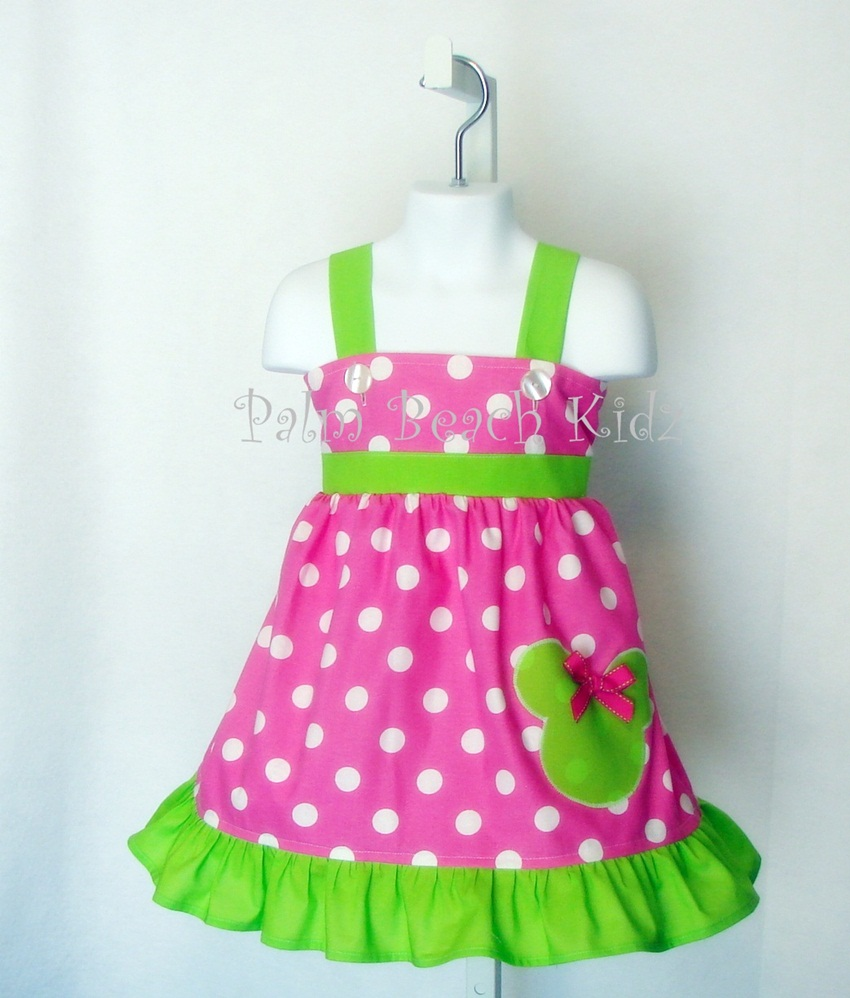 Minnie Pink Dot N Lime Dress