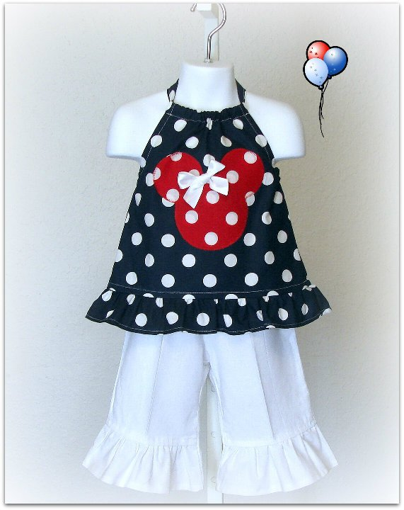 Nautical Minnie Capri Set