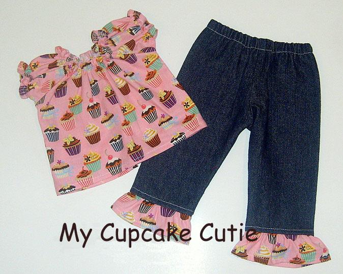 Doll Cupcake Cutie Peasant Pant Set