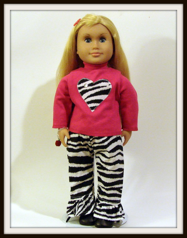 Wild and Fun Zebra Pant Set - AG
