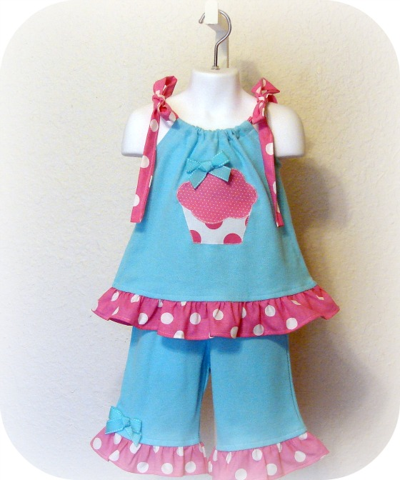 Spring and Summer Cupcake Capri Set