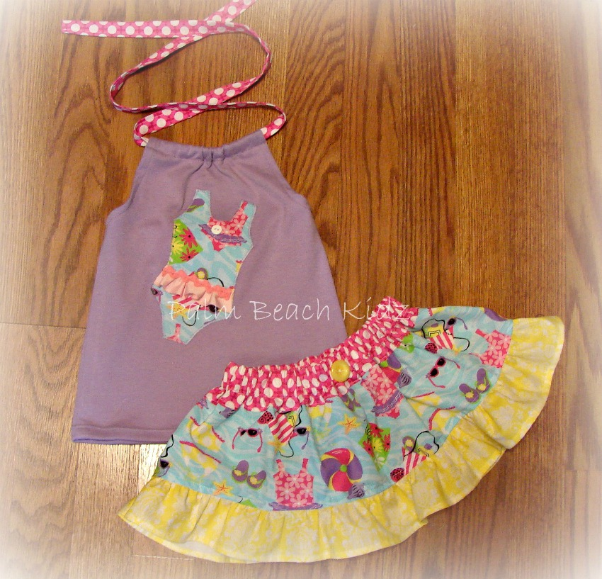 Beach Baby Skirt Set