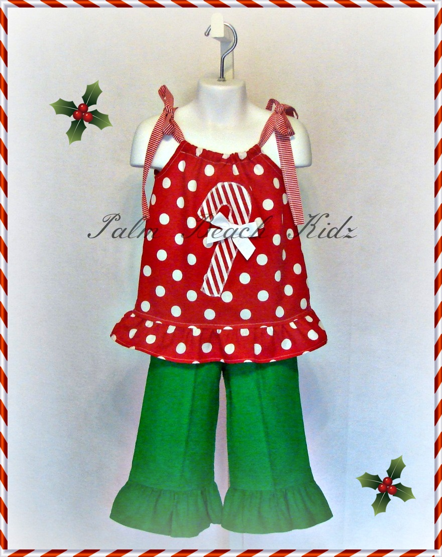 Sweet Candy Cane Pant Set