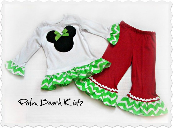 Christmas Minnie Pant Set