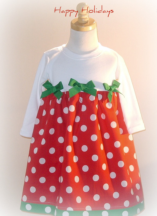 Red and White Dot Christmas Dress