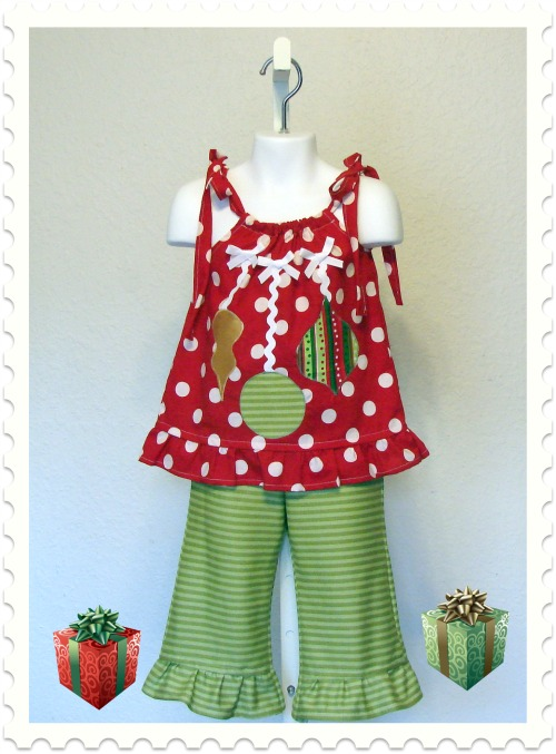Christmas Ornaments Pant Set
