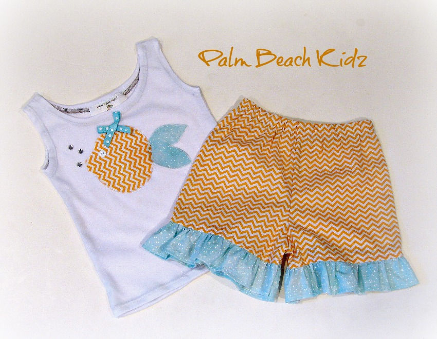 Citrus Fish Short Set