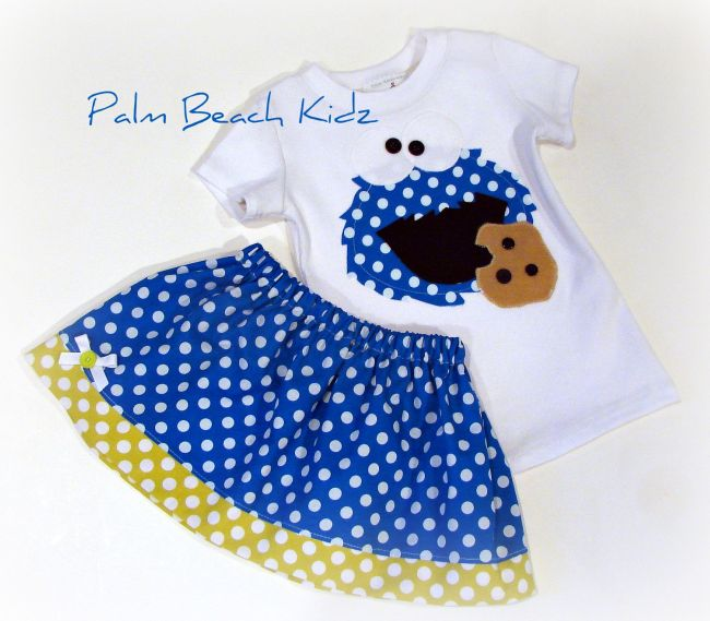 Cookie Monster Skirt Set