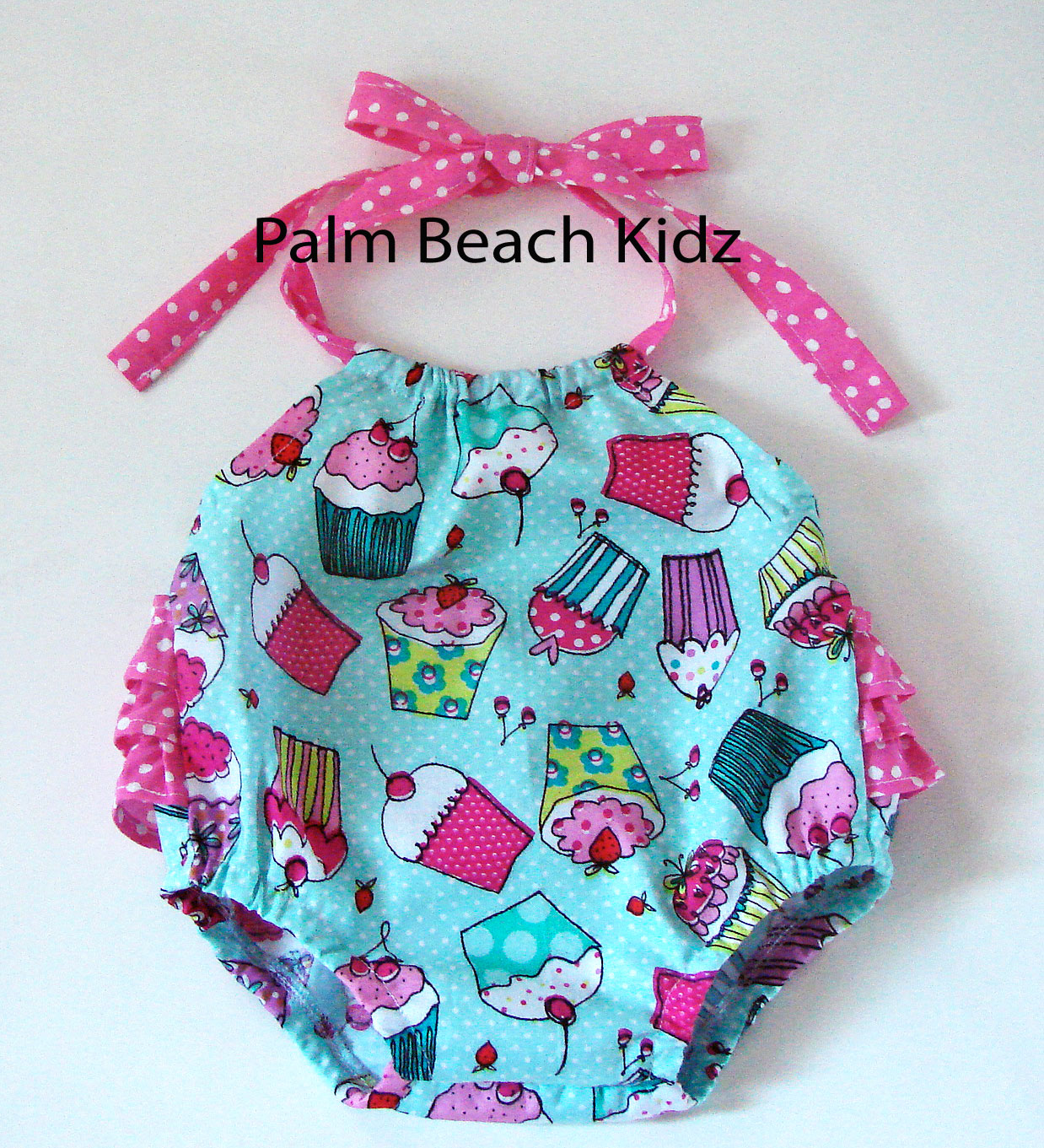 Cupcake with a Cherry on Top Romper Sunsuit