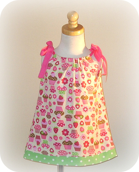 Cupcake Flannel Pillowcase Dress