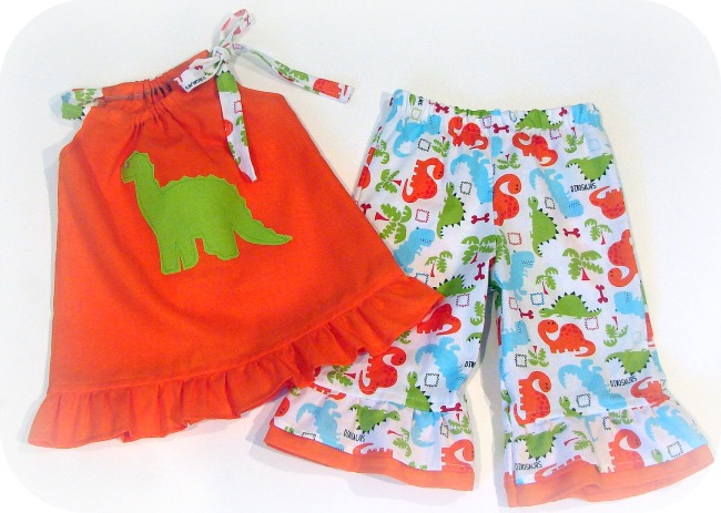 Dinasour Bright Capri Set