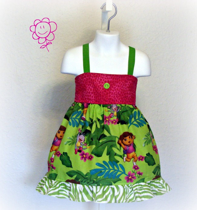 Dora Jungle Toss Dress