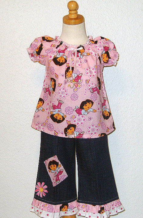 Dora N Pink Peasant Pant Set