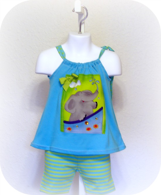 Happy Bright and Fun Elephant Short Set
