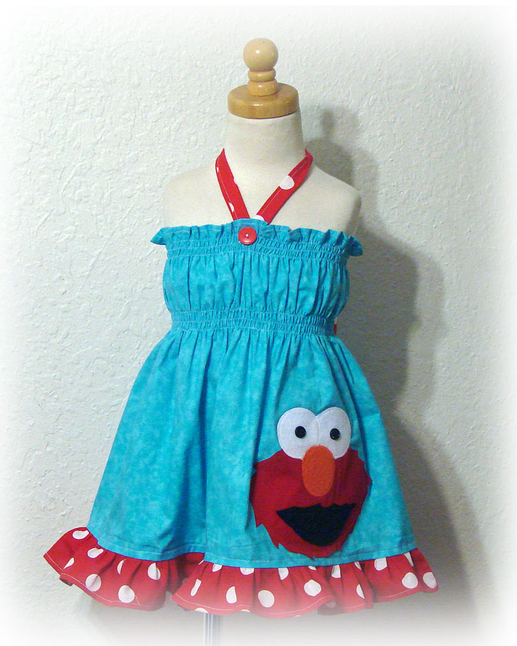 Elmo Aqua Sundress