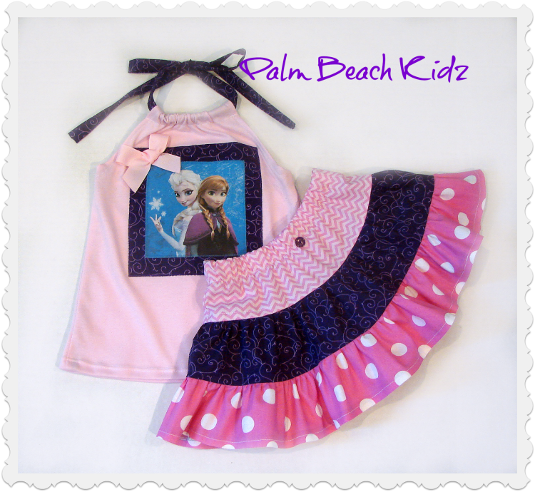 Frozen Ana N Elsa Skirt Set