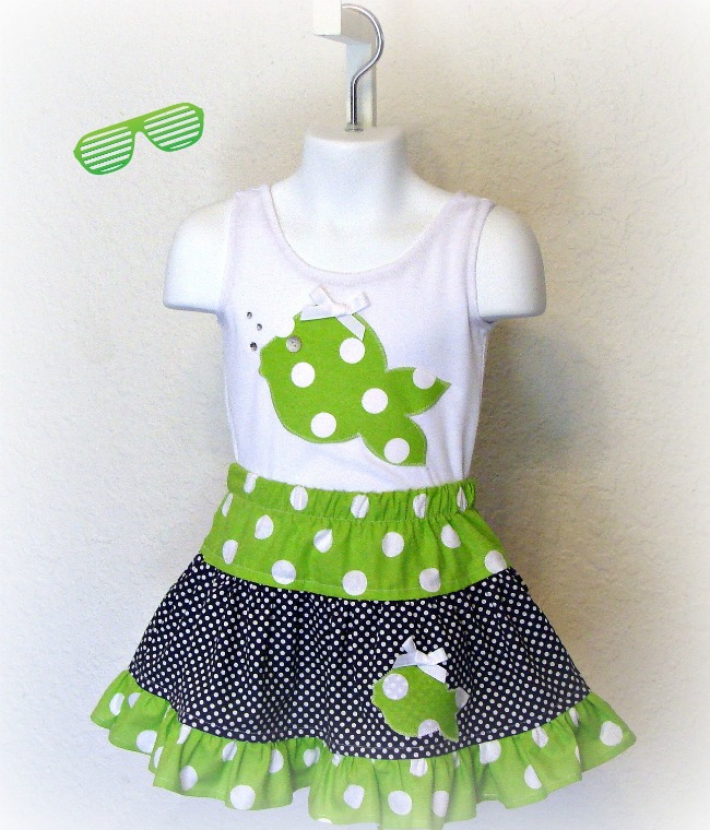 Fun Fish Skirt Set