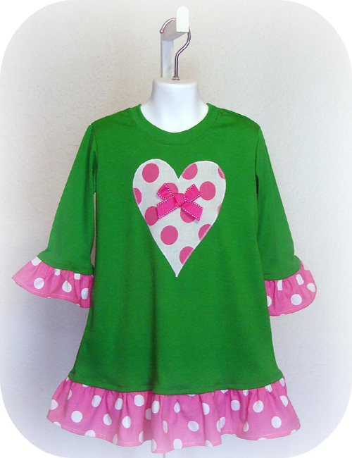 Pink Dot Heart  Dress