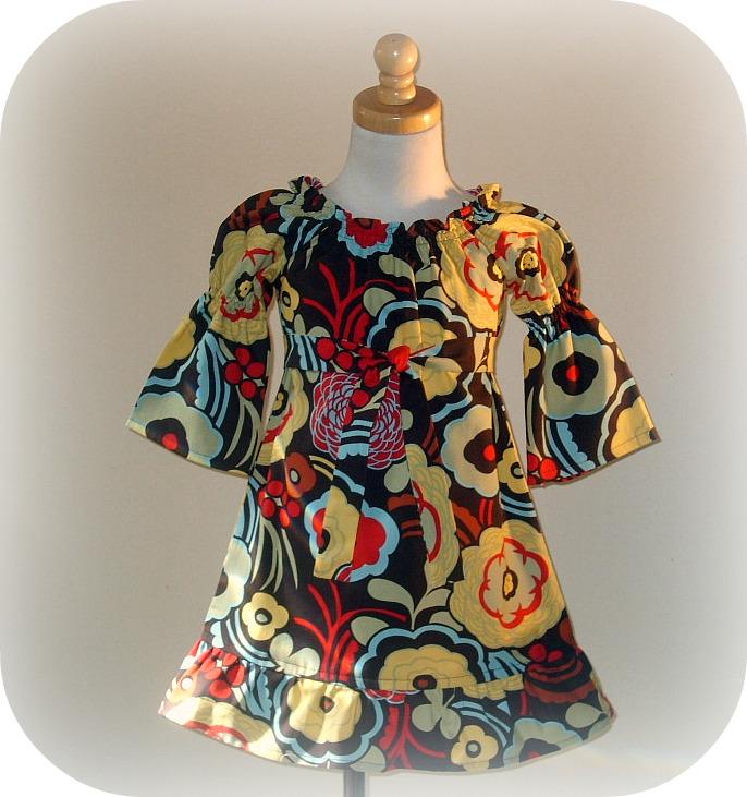 Mila Floral Peasant Dress