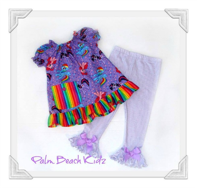 Little Pony Boutique Ruffled Legging Set