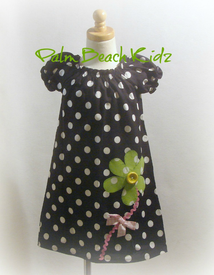 Lime Big Flower Dress