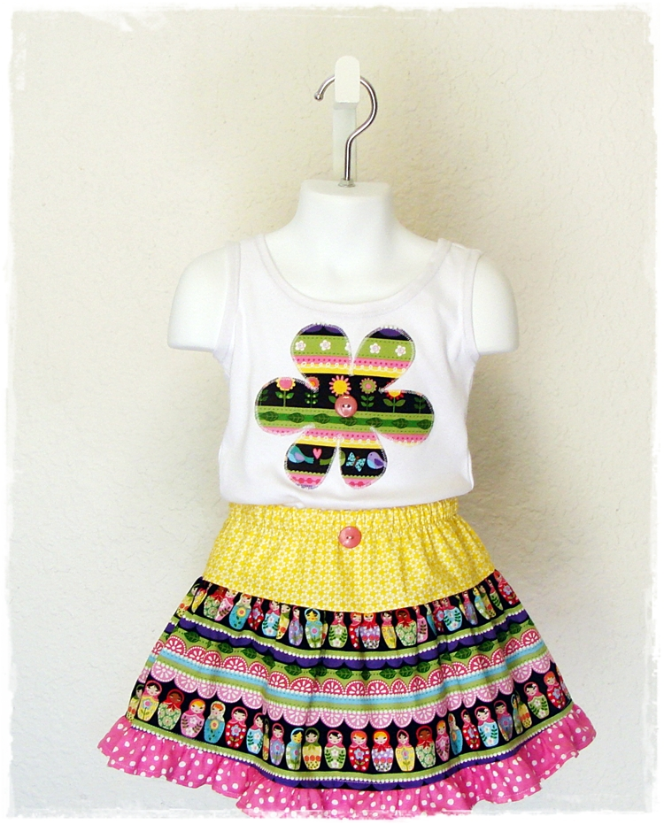 Matryoshka Doll Skirt Set