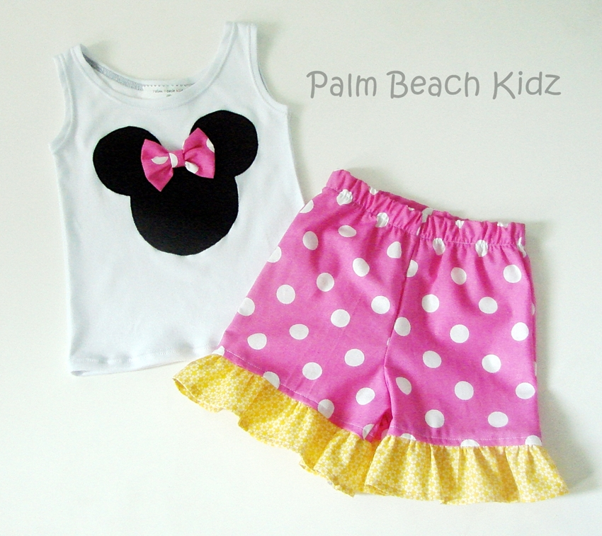 Minnie Pink N Yellow Short Set