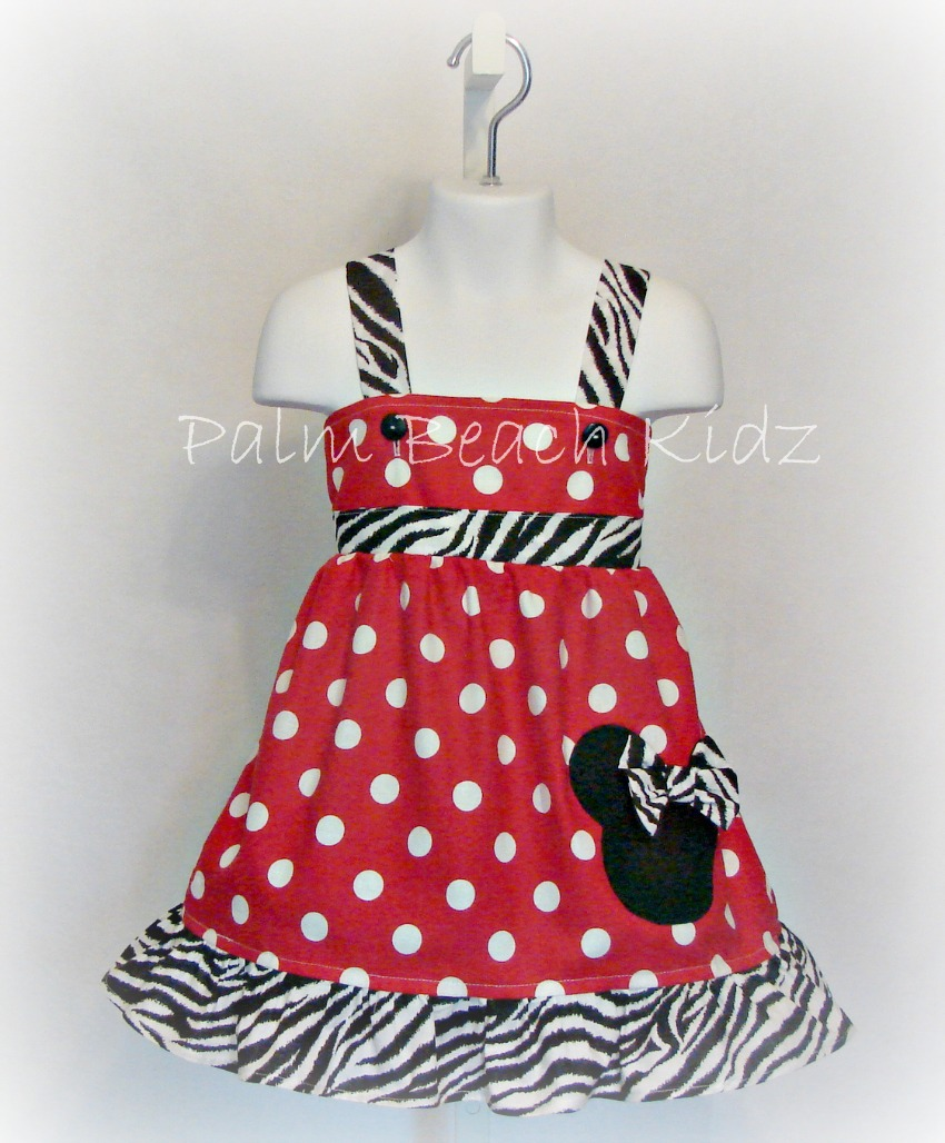 Minnie Red Dot and Zebra Dress
