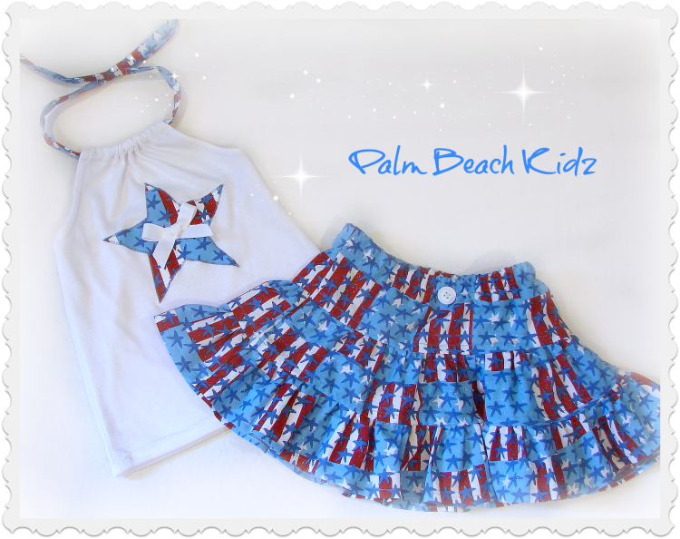 Stars N Stripes Halter Skirt Set