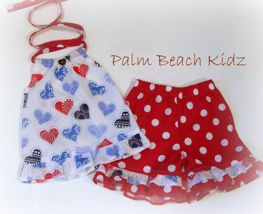 Patriotic Heart Short Set