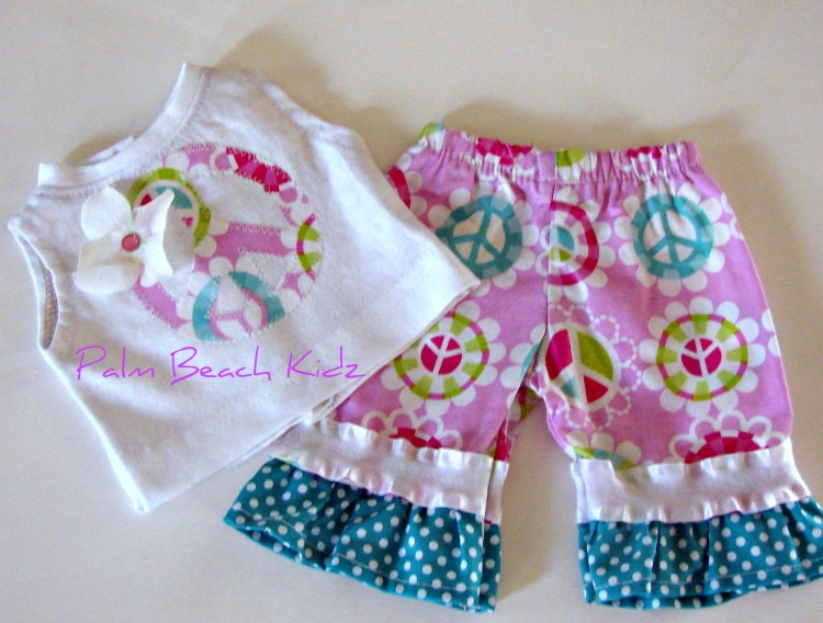 Peace Capri Set for American Girl Doll