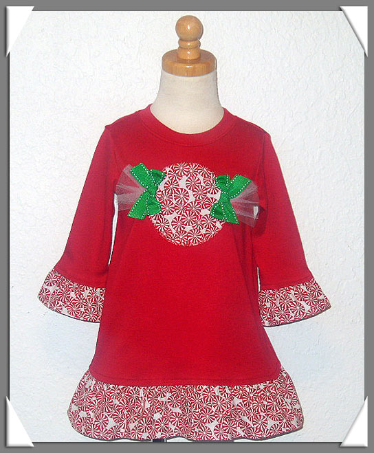 Peppermint Twist Holiday Dress