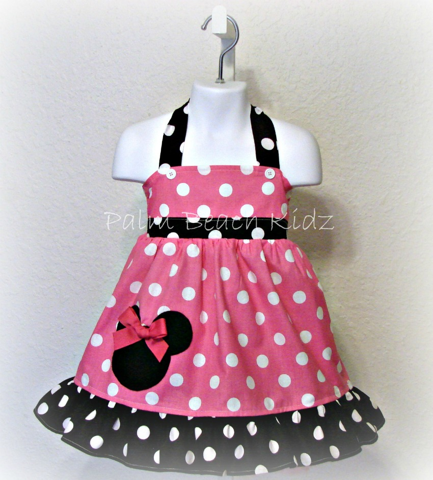 Pink N Black Dot Minnie Dress