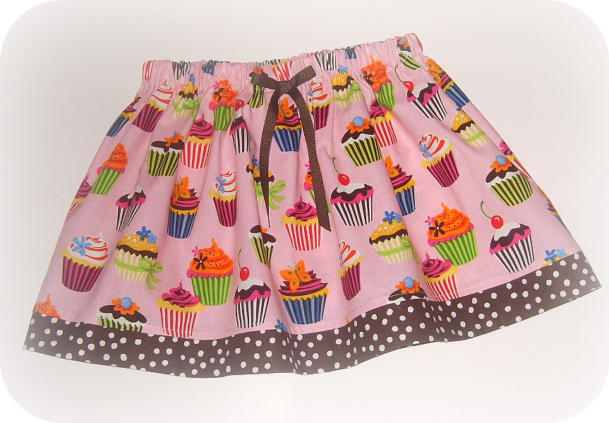 Pink Cupcake Twirl Skirt