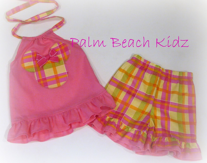 Pink Plaid Minnie Short Set