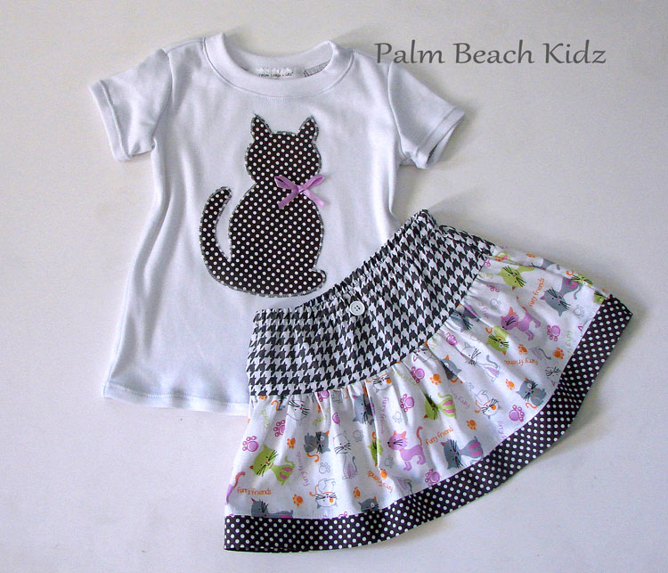 Pretty Kitty Skirt Set