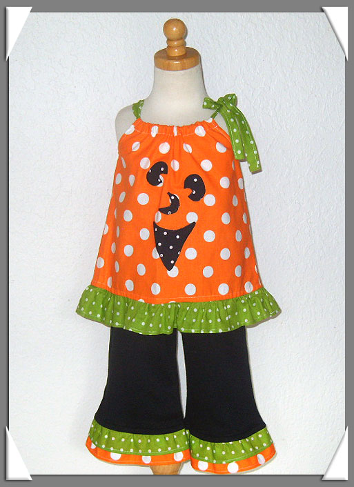Whacky Pumpkin Face Pant Set