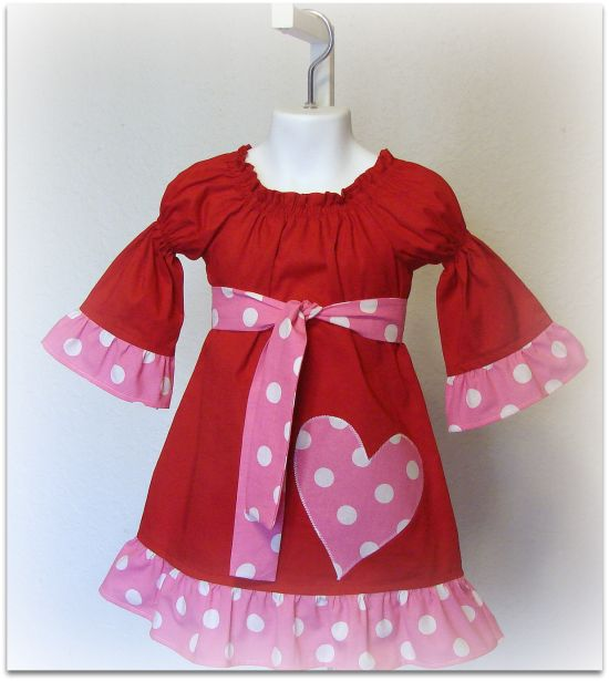My Valentine Red and Pink Heart Dress