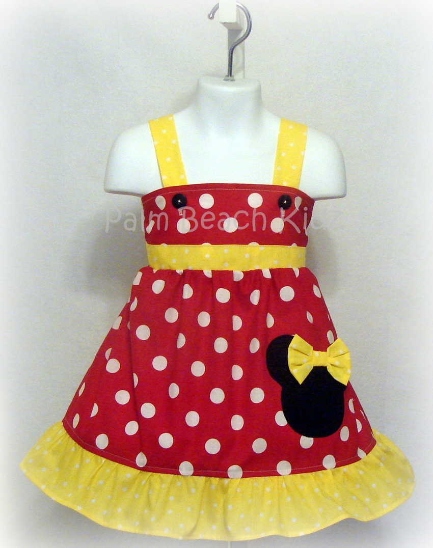 Red N Yellow Dot Minnie Dress