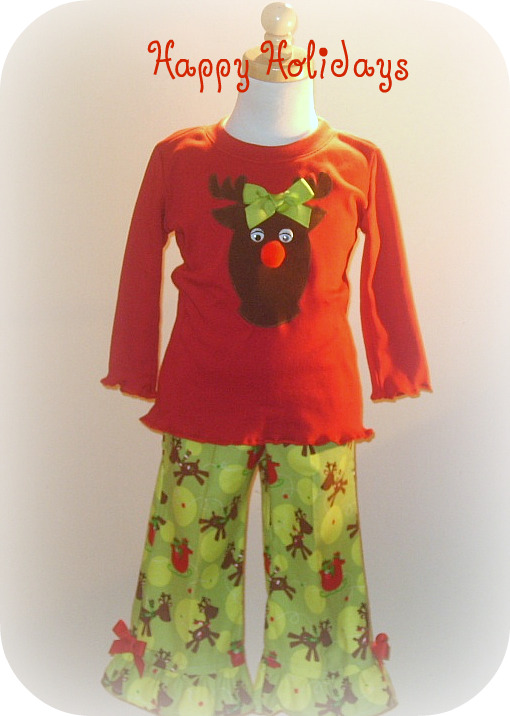 Reindeer Delight Pant Set