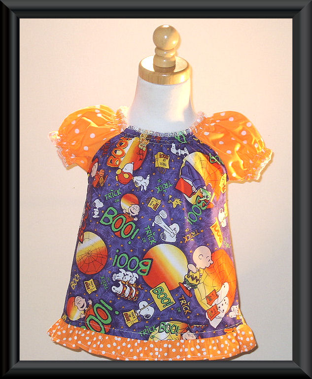 Snoopy Halloween Peasant Top