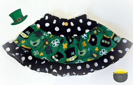 St Patrick's Day Skirt