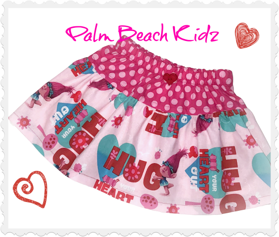 Poppy Trolls Heart Skirt