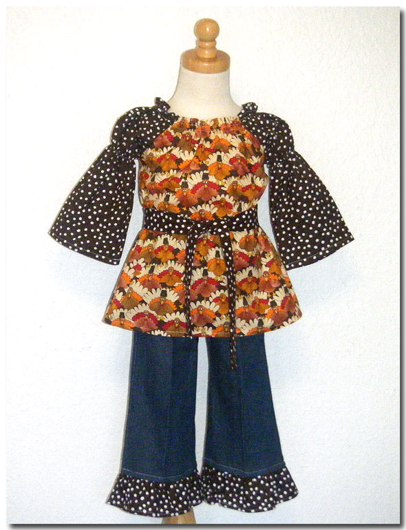 Happy Turkey Peasant Pant Set