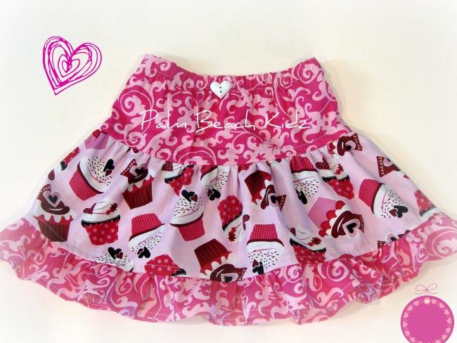 Valentine Cupcake Skirt