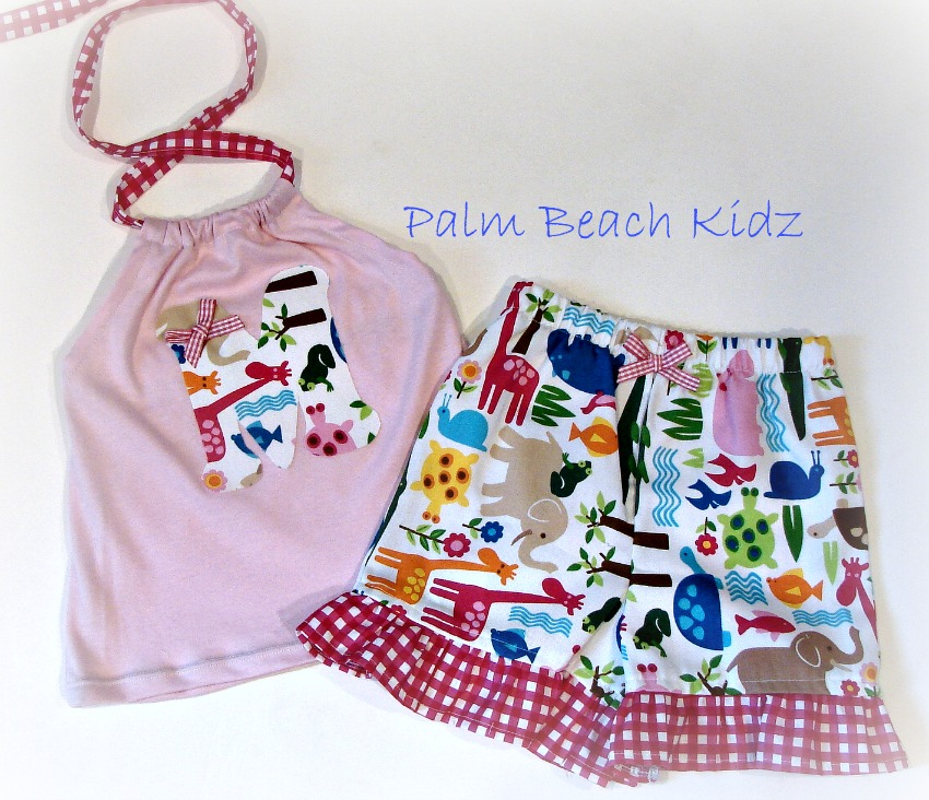 Zoo Animal Halter Short Set